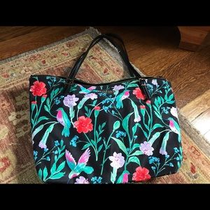 Kate spade flowered tote bag